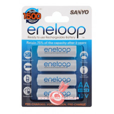 Аккумулятор Sanyo Eneloop R6 AA (1900mAh) x 4шт