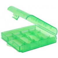 Футляр для аккумуляторов Sanyo battery case 4 (AA/AAA) green