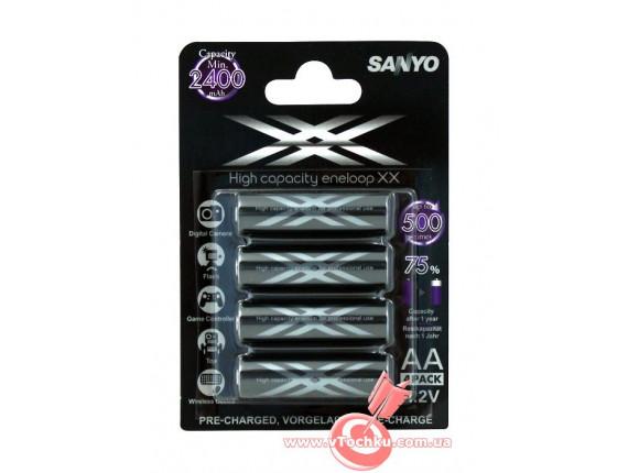 Аккумулятор Sanyo Eneloop XX R6 AA (2500mAh) x 4шт