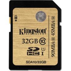 Карта памяти Kingston SDHC 16GB Class 10 UHS-I (SDA10/16GB)