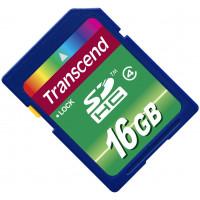 Карта памяти Transcend SDHC 16GB Class 4 (TS16GSDHC4)