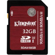 Карта памяти Kingston SDHC 32GB Class10 UHS-I U3 Ultimate (SDA3/32GB)