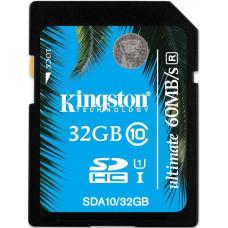 Карта памяти Kingston SDHC 32GB Class 10 UHS-I Ultimate (SDA10/32GB)