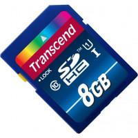 Карта памяти Transcend SDHC 8GB Class 10 UHS-I Карта памяти Premium (TS8GSDU1)