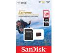 Карта памяти Sandisk microSDXC 128GB Extreme Action A1 Class 10 V30 UHS-I U3 + SD-adapter (SDSQXAF-128G-GN6AA)