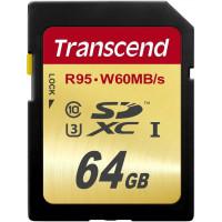 Карта памяти Transcend SDXC 64GB Class 10 UHS-I U3 Ultimate (TS64GSDU3)