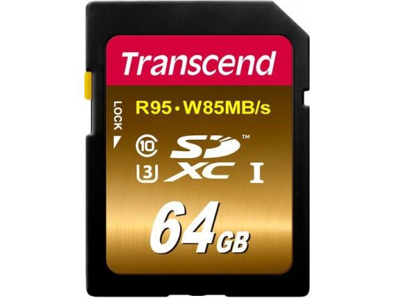 Карта памяти Transcend SDXC 64GB Class 10 UHS-I U3 Ultimate (TS64GSDU3X)