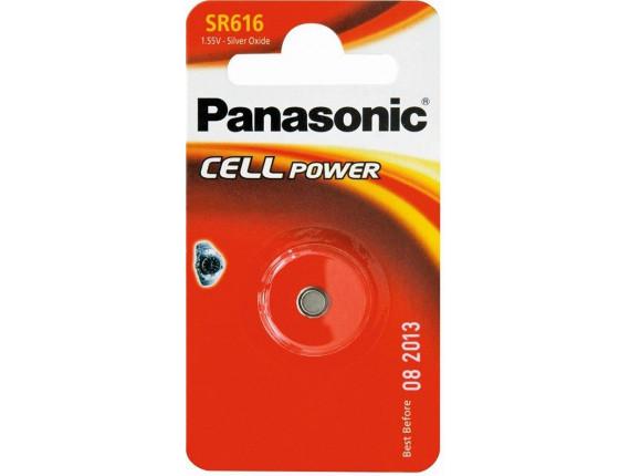 Батарейка Panasonic SR616 Silver Oxide, 1шт. (SR-616EL/1B)