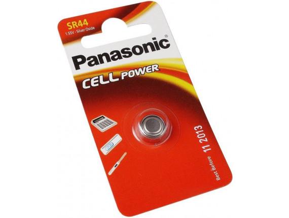 Батарейка Panasonic SR44 Silver Oxide, 1шт. (SR-44EL/1B)