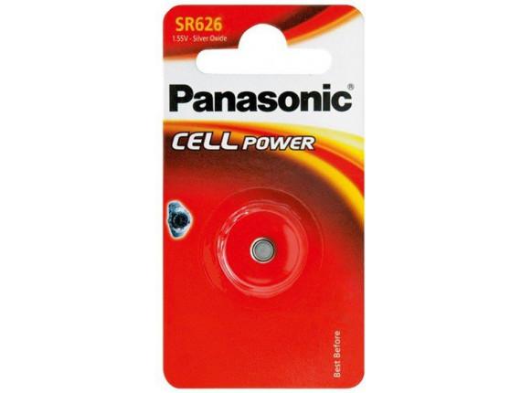 Батарейка Panasonic SR626 Silver Oxide, 1шт. (SR-626EL/1B)