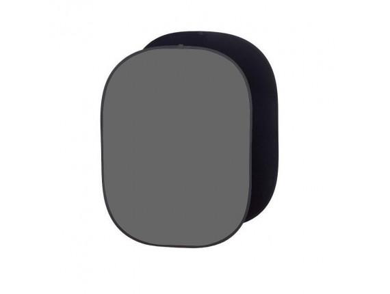 Фон в пружинной рамке Visico BP-028 2в1 (черный/серый) 150x200см
