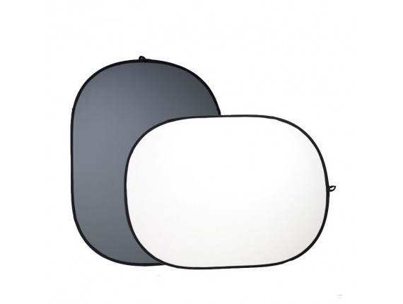 Фон в пружинной рамке Visico BP-028 2в1 (серый/белый) 120x180см