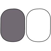 Фон в пружинной рамке Visico BP-028 2в1 (серый/белый) 150x200см