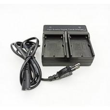 Зарядное устройство Visico Double для двух Sony NP-F550, NP-F750, NP-F950