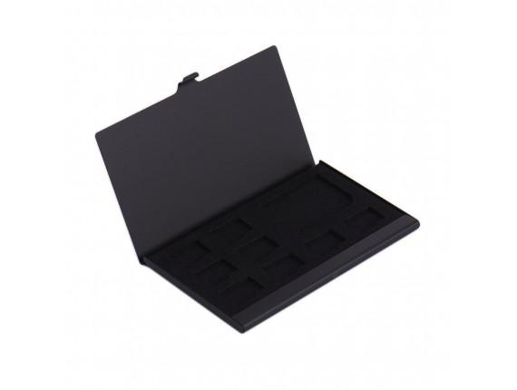 Кейс для карт памяти Visico Metal Case MC-SD1MSD8 black