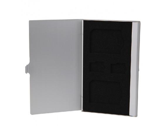 Кейс для карт памяти Visico Metal Case MC-SD2MSD2 silver