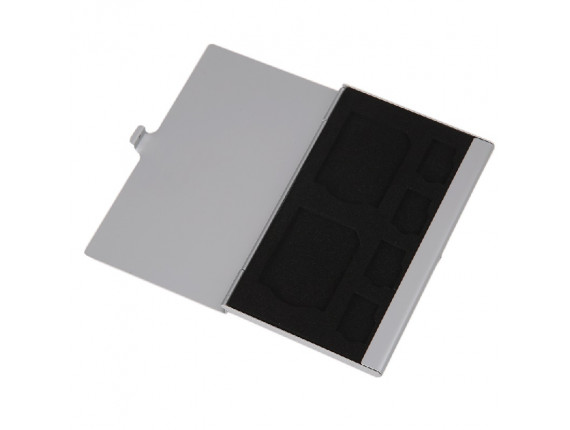 Кейс для карт памяти Visico Metal Case MC-SD2MSD4 silver