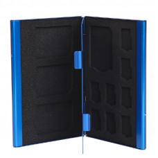 Кейс для карт памяти Visico Metal Case MC-SD4MSD8 blue
