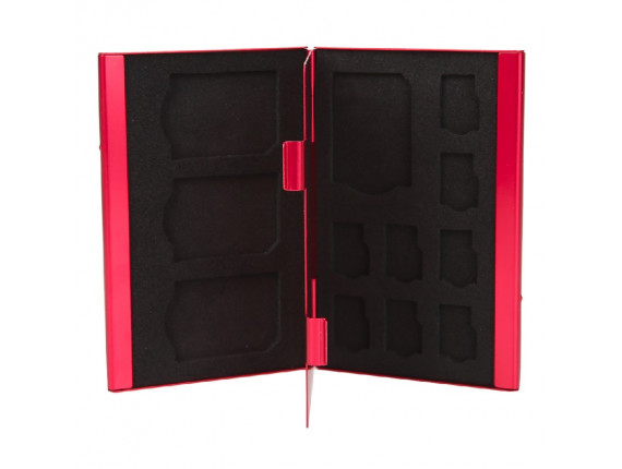 Кейс для карт памяти Visico Metal Case MC-SD4MSD8 red