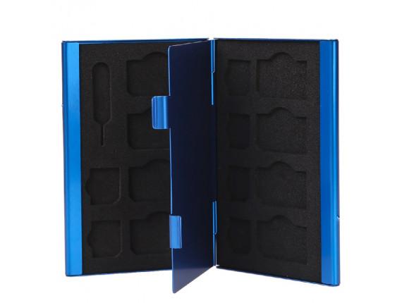 Кейс для сим карт Visico Metal Case SC-S8MS6 blue