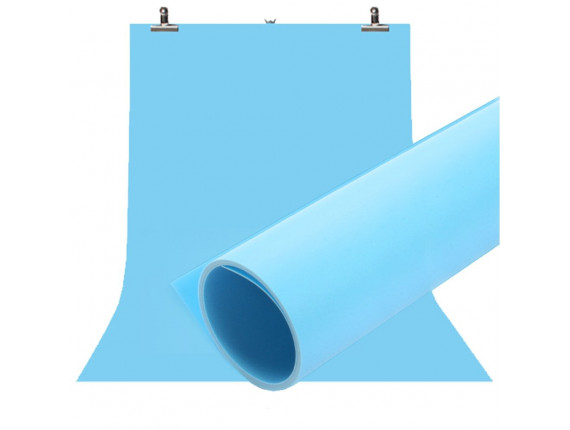 Фон для съёмки Visico PVC-7013 Blue (70x130см)