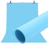 Фон для съёмки Visico PVC-1020 Blue (100x200см)