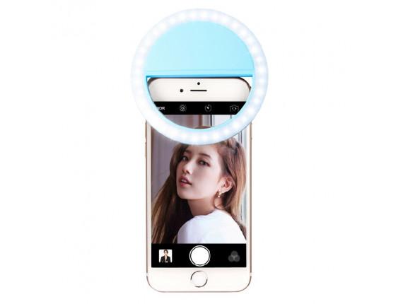 Кольцевой свет для селфи Visico RK-12 Selfie Ring Light blue