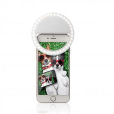 Кольцевой свет для селфи Visico RK-12 Selfie Ring Light white