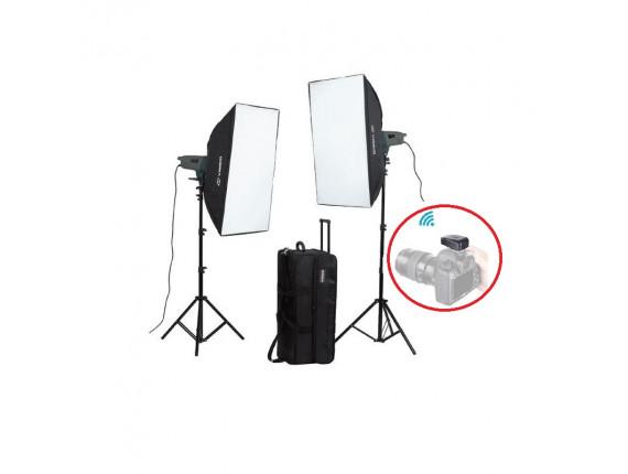 Набор студийного света Visico VE-400 Plus Softbox KIT