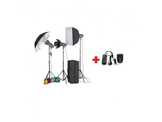 Набор студийного света Visico VT-300 Unique KIT + радиосинхронизатор
