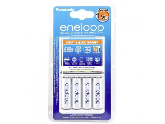 Зарядное устройство Panasonic Eneloop BQ-CC55E Smart-Quick Charger + 4 AA 1900 (K-KJ55MCC40E)
